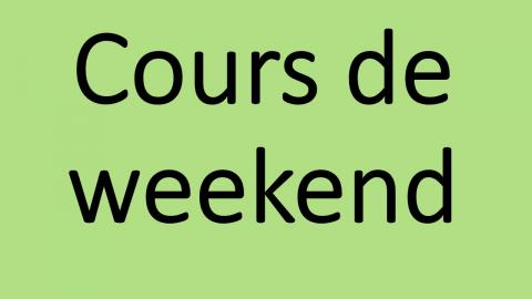 Cours de weekend